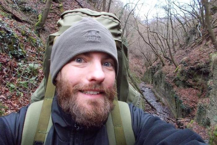 Justus Selfie im Wald
