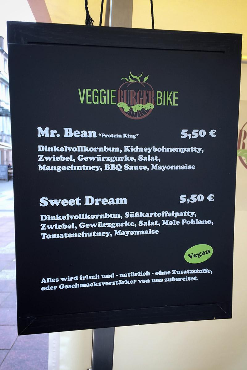 Veggie Burger Bike Bonn Speisekarte