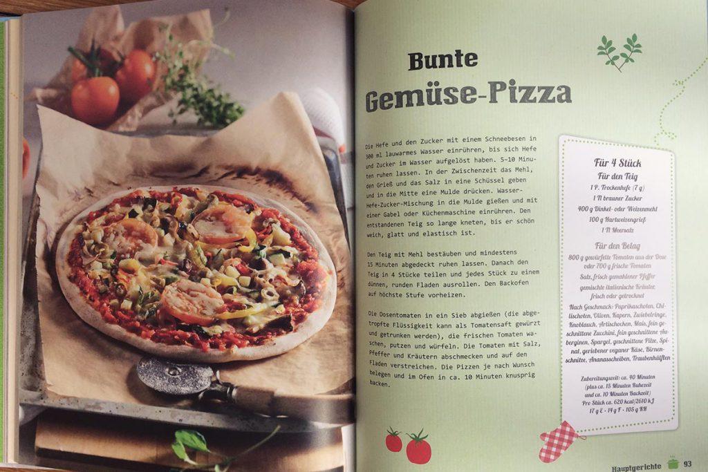 Bunte Gemüsepizza Rezept