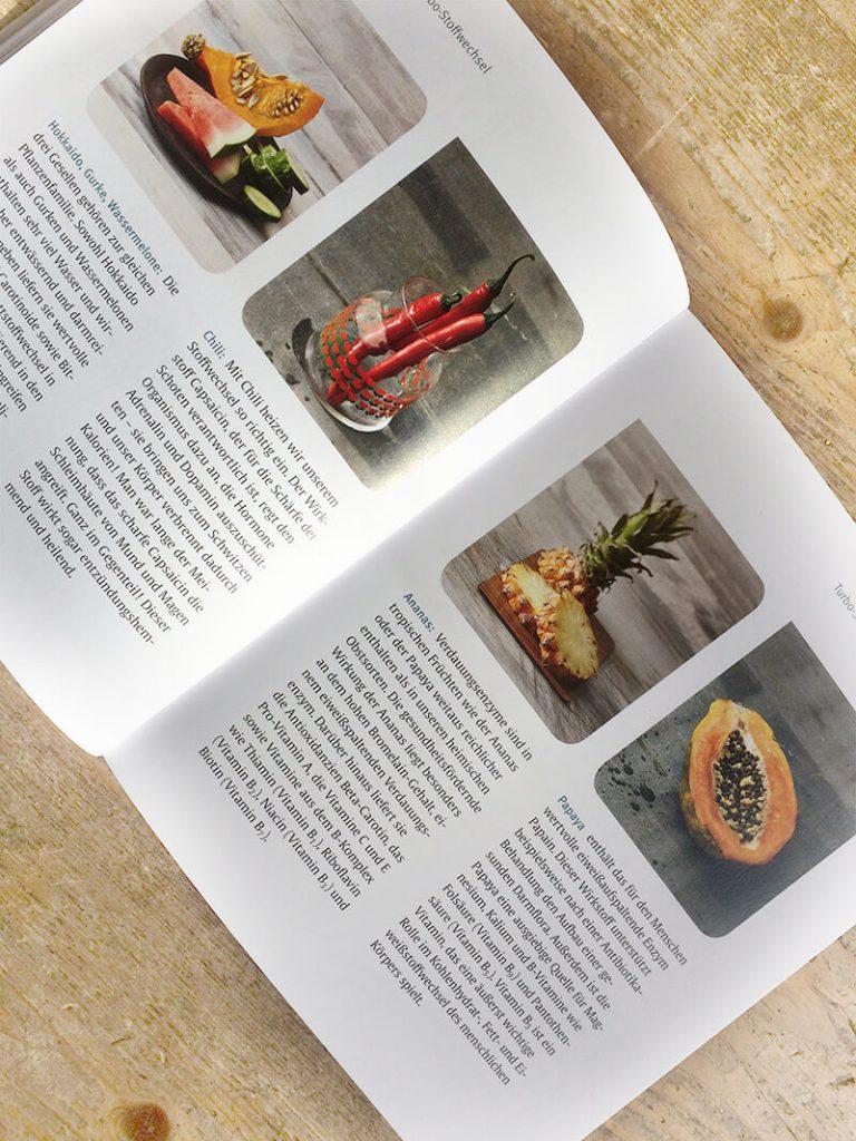 Kochbuch mit Lebensmitteltipps und Wissen