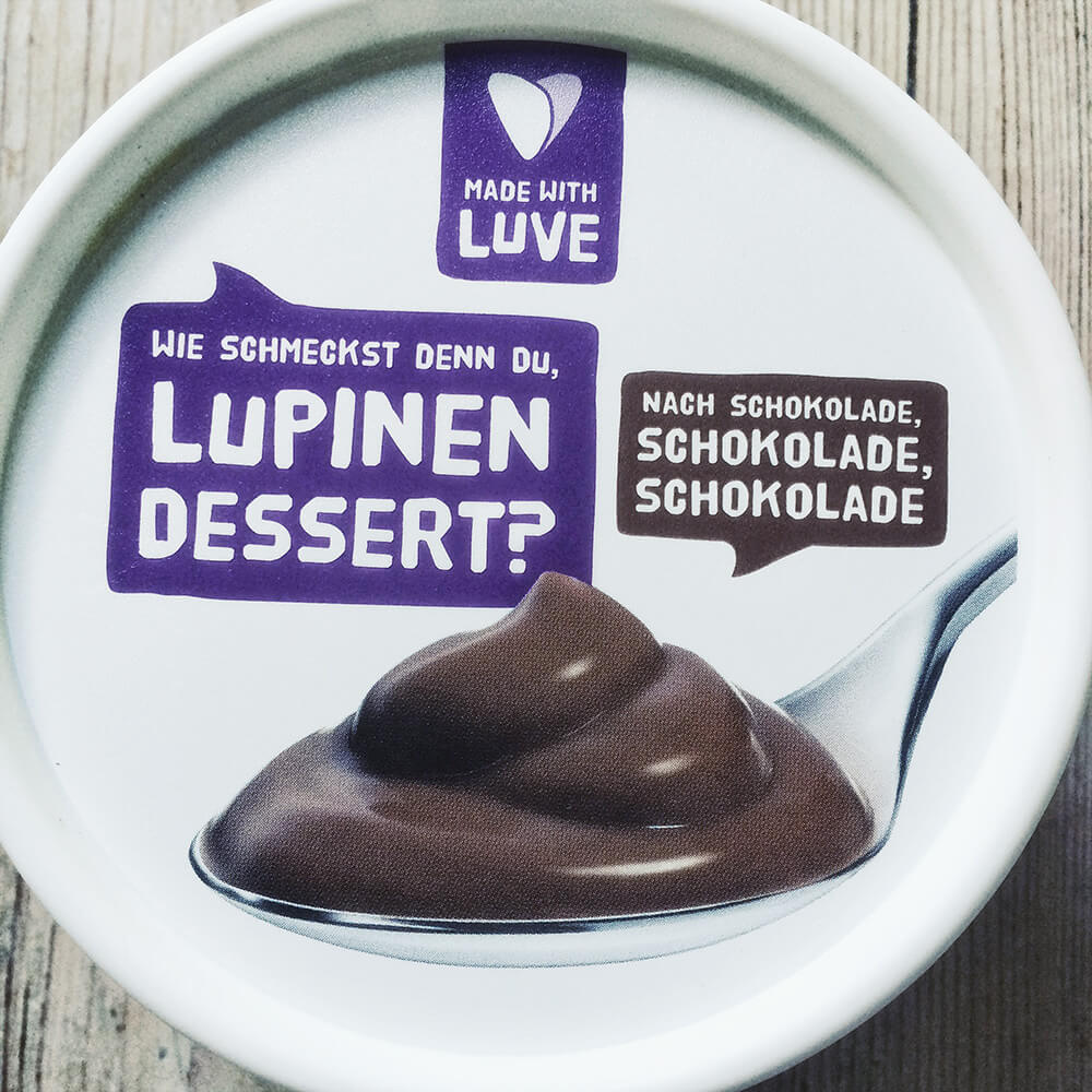 Packung Lupinen Dessert Schoko von Made with Luve