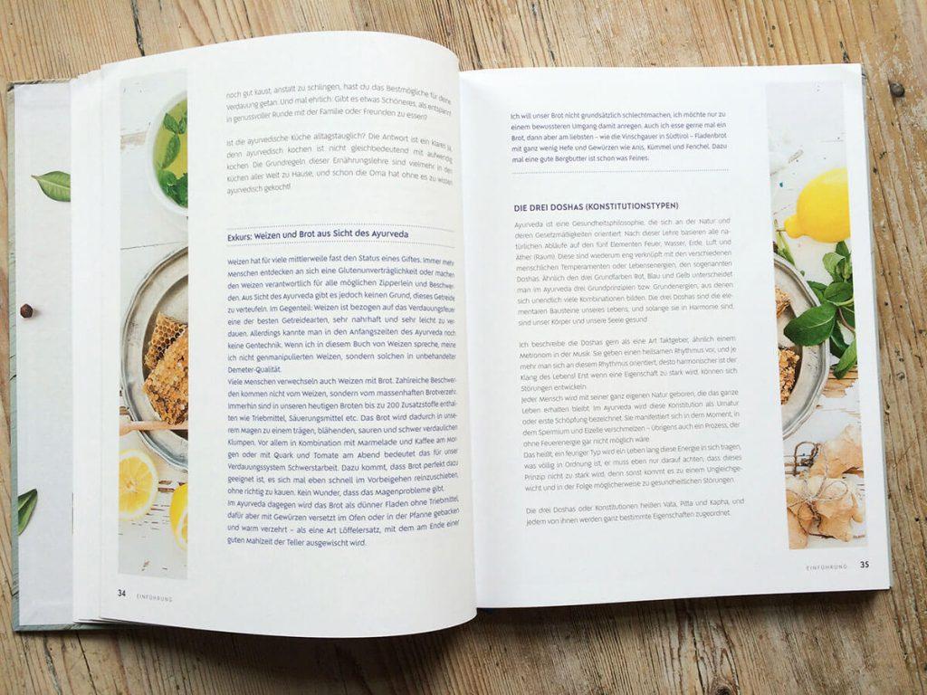 Blick in das Ayurveda Kochbuch