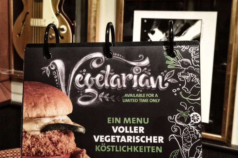 Vegetarisches Angebot im Hard Rock Cafe