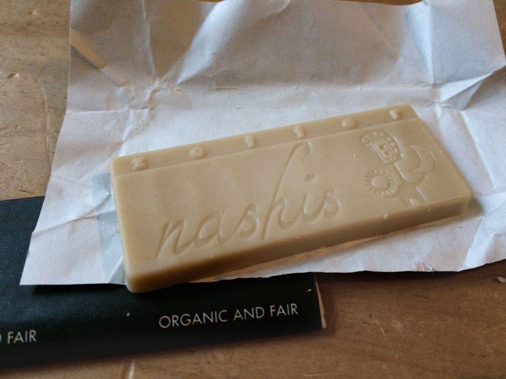 Zotter Nashis vegane Schokolade aus Reis und Kokos
