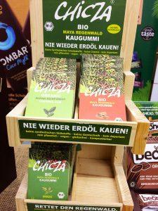 Chicza Kaugummi Präsentation auf der Veganfach