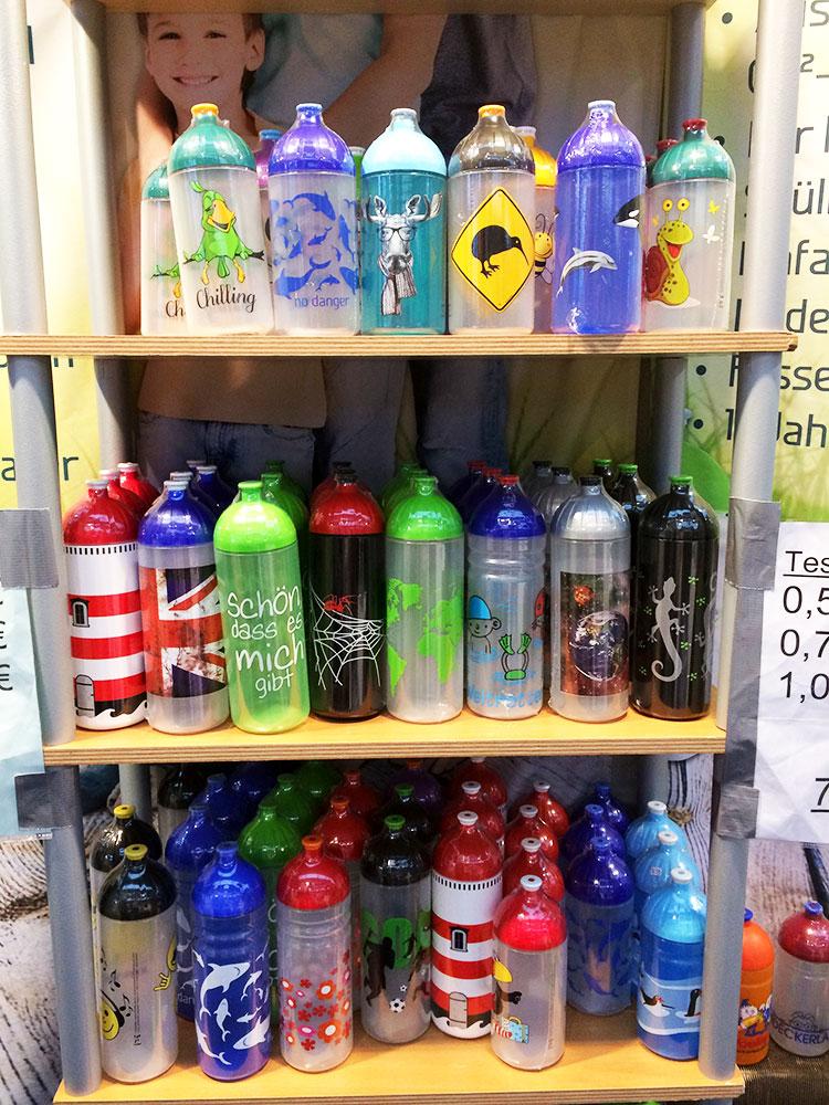 Viele Isybe Trinkflaschen