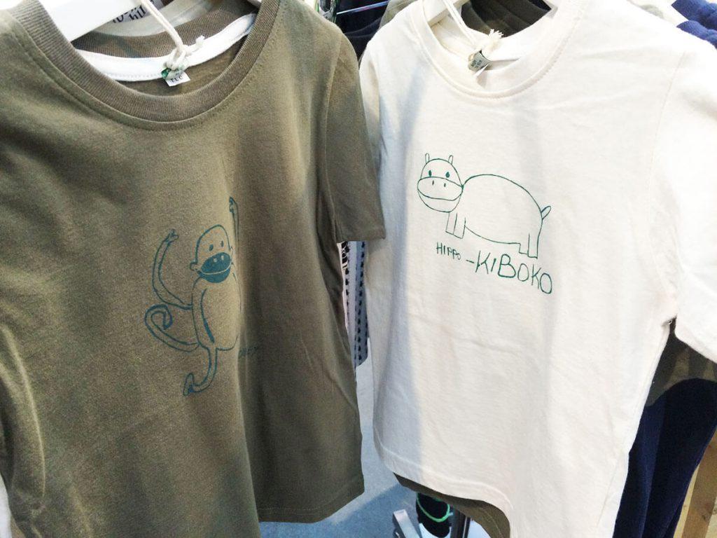 2 Kipepeo Tshirts grün und weiß