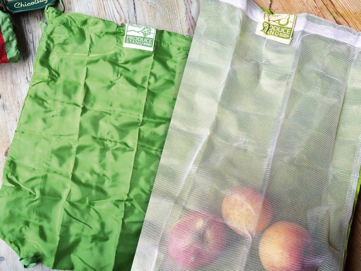 Chicobag VeggieBags Grün mit Mesh Fenster