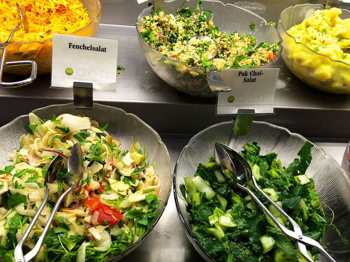 Fenchelsalat und Pak-Choi Salat