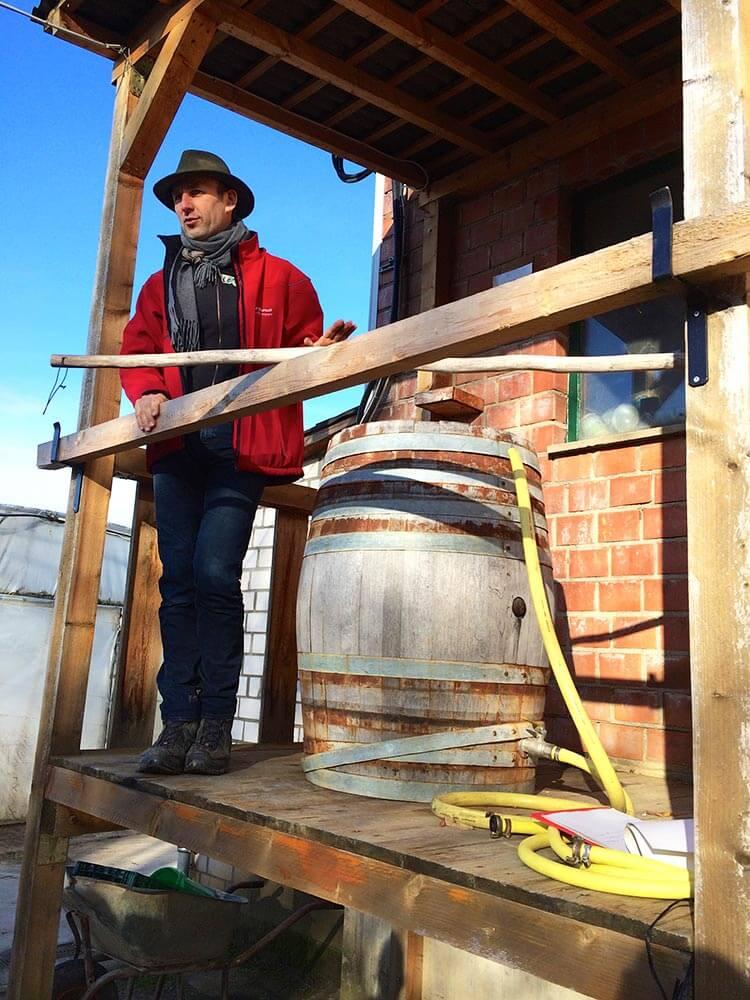 Das heilige Holzfass zu Wasserdynamisierung
