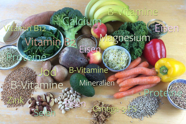 10 Nährstoffe für eine gesunde, vollwertige und pflanzlichen Ernährung