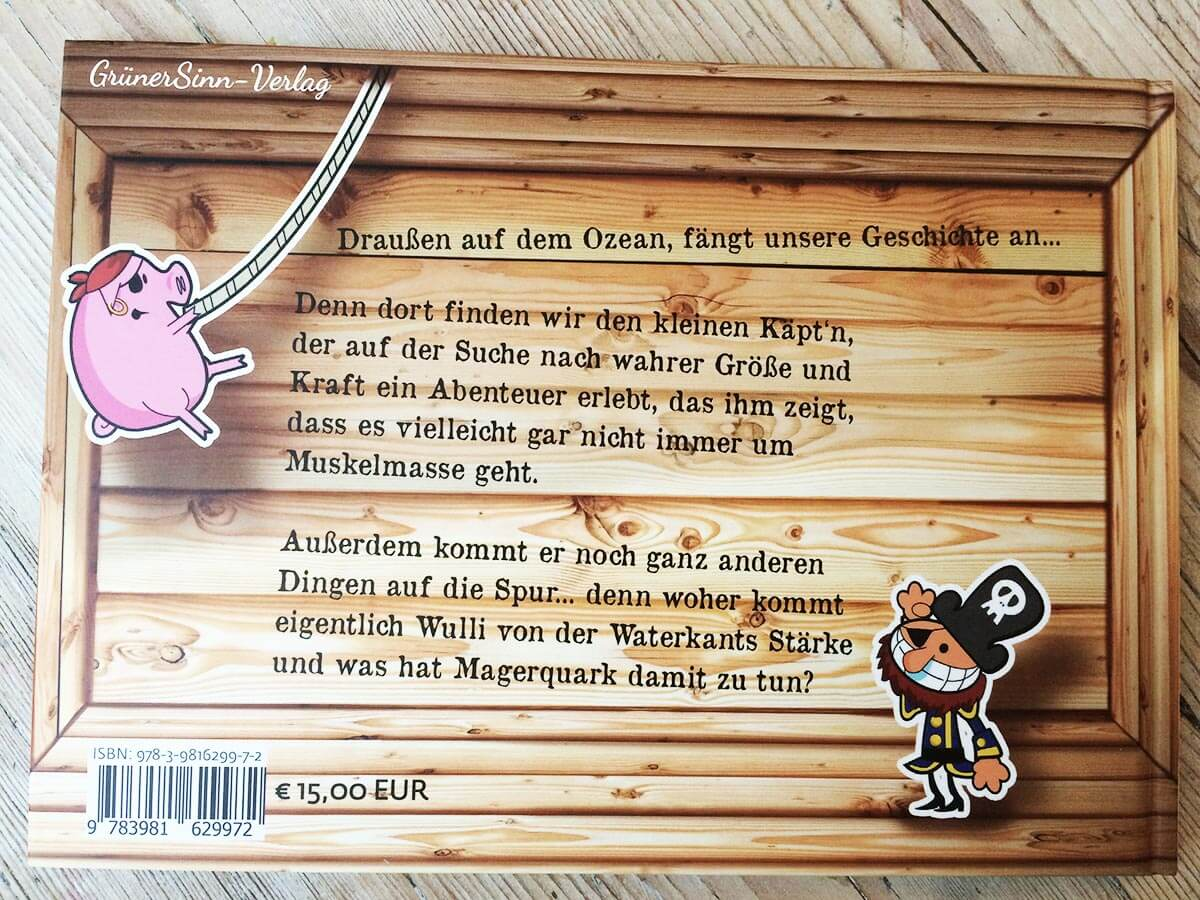 Buchcover Rückseite Schweine in Kisten