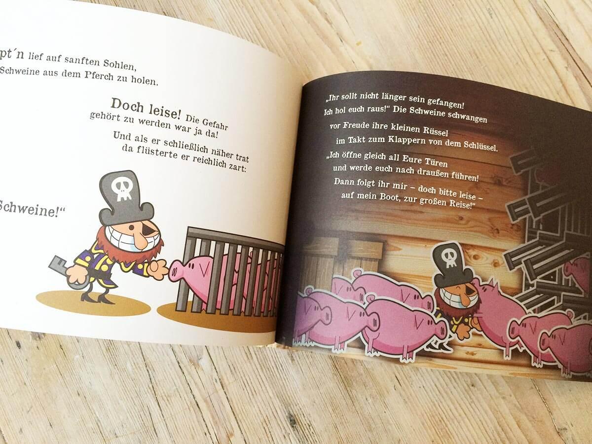 Blick ins Buch Schweine in Kisten