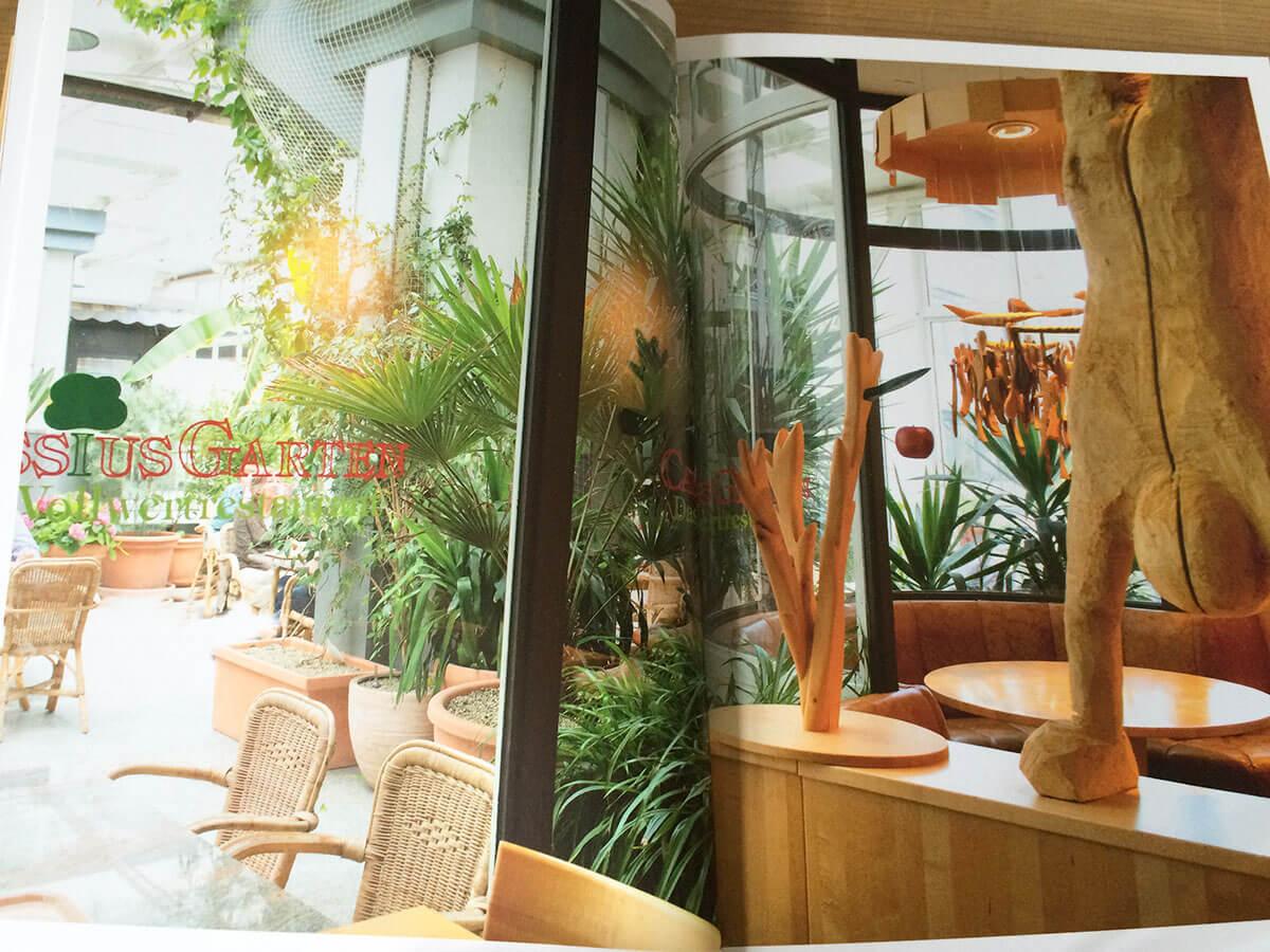 Blick in das Kochbuch vom Cassius Garten in Bonn
