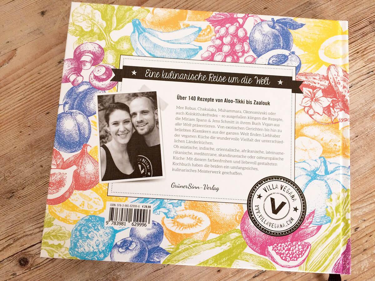 Villa Vegan Kochbuch Rückseite