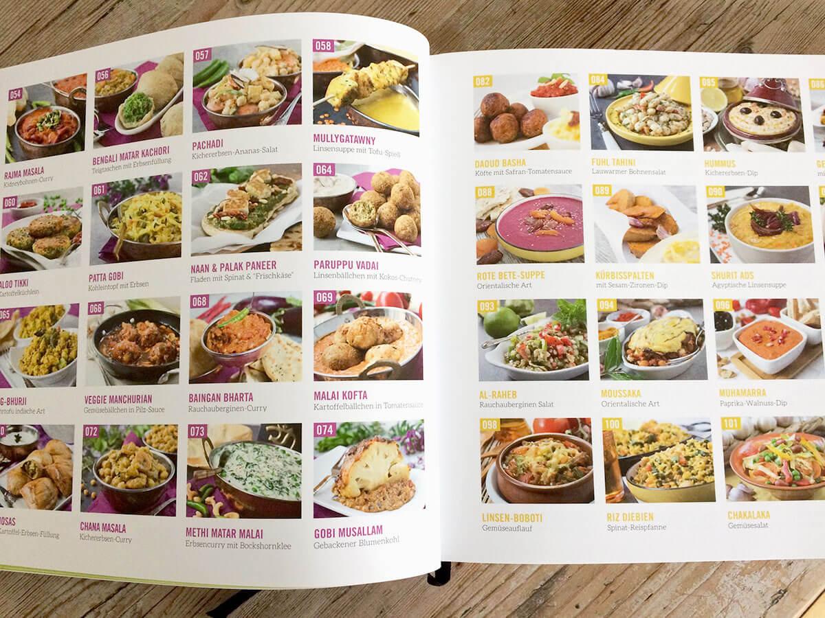 Villa Vegan Kochbuch Rezepteübersicht