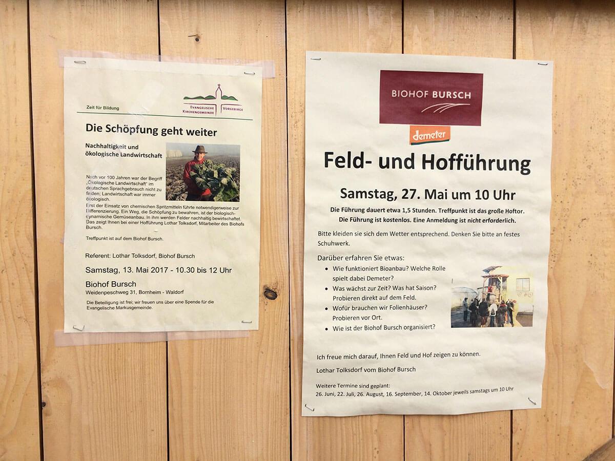 Hoffführungen Demeter Biohof Bursch