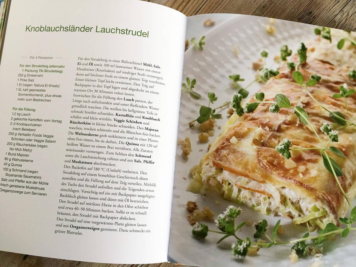 Franken vegetarisch - Lauchstrudelrezept