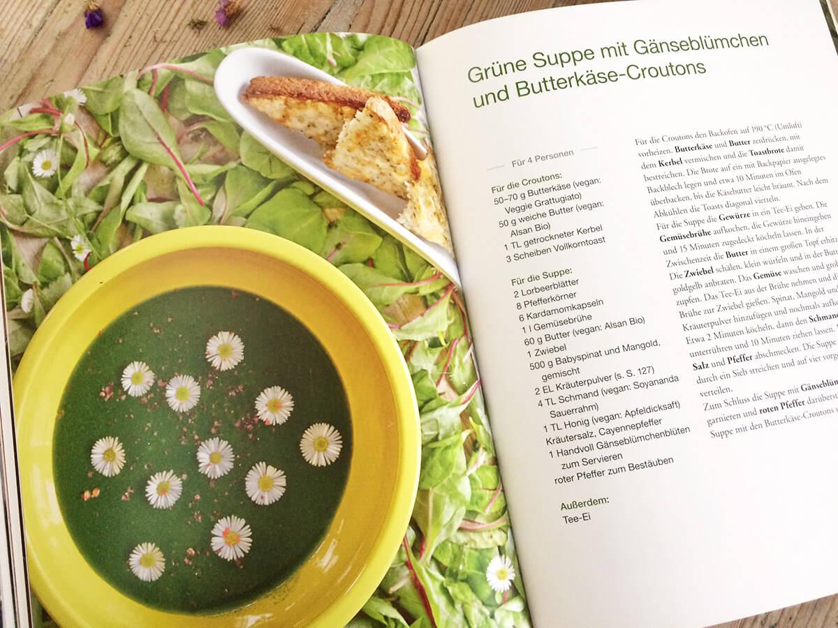 Franken vegetarisch - Grüne Suppe Rezept
