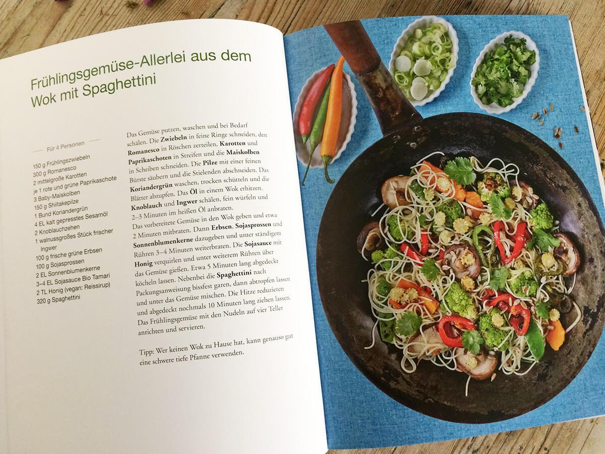 Franken vegetarisch - Frühlingsgemüse Wok Rezept