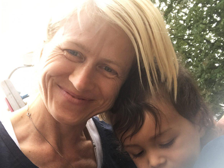 Annette mit Sohn Lenny