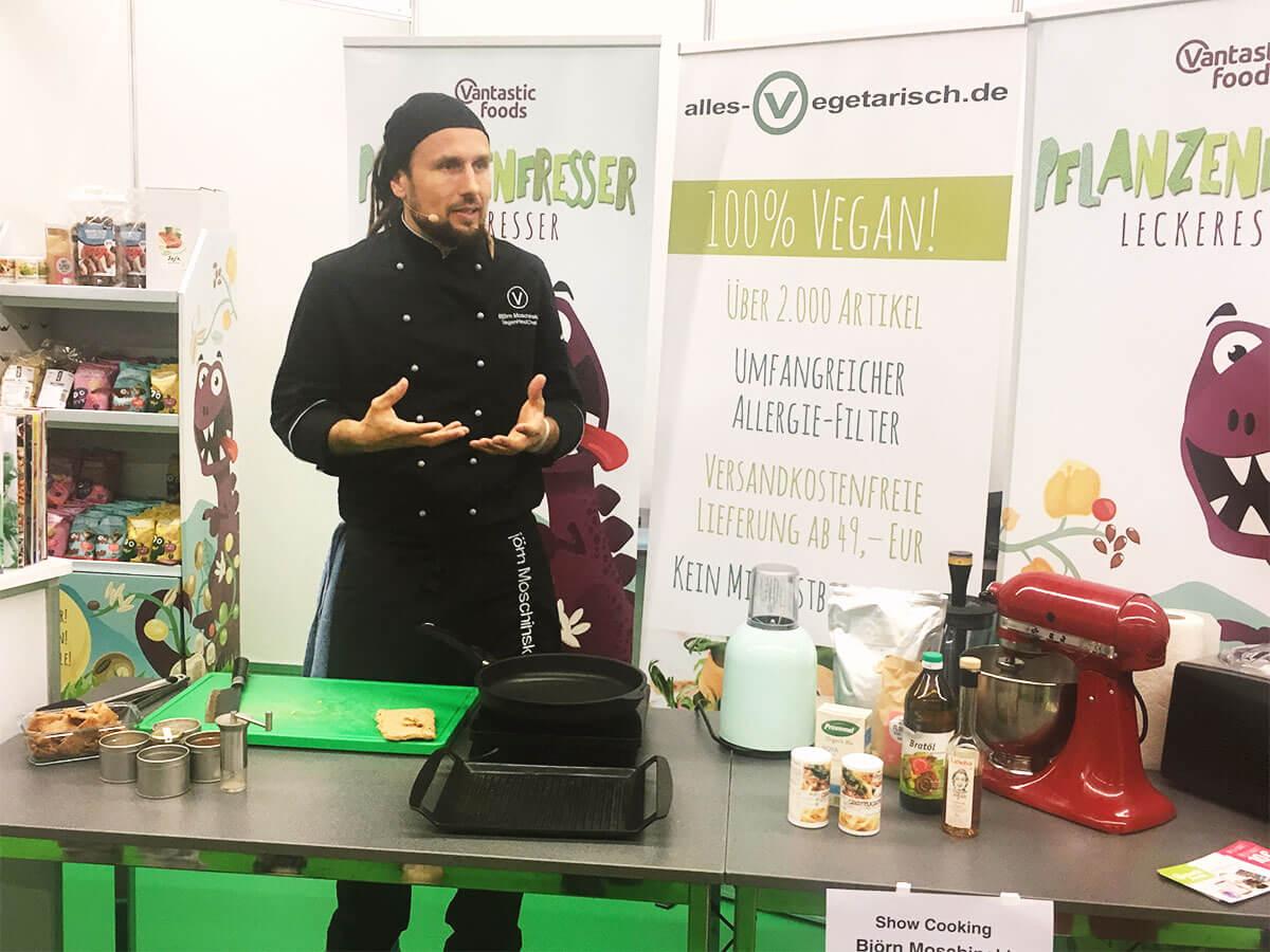 Alles vegetarisch Messestand Veganfach Köln