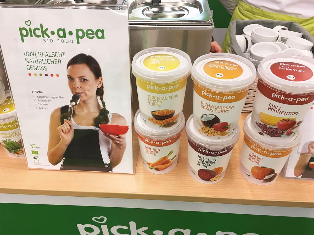 Pick a pea Messestand Veganfach Köln