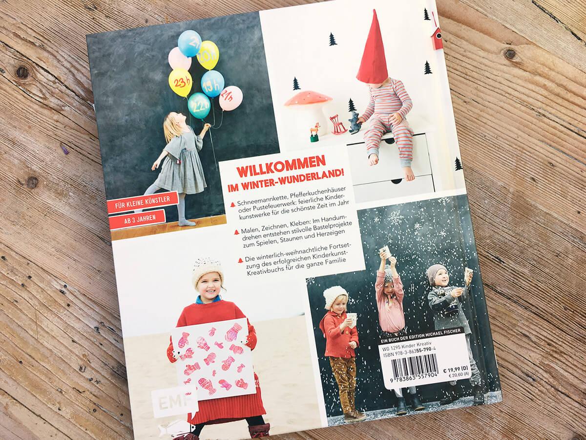 Das Kinderkunst Kreativbuch - Bastelbuch Cover Rückseite