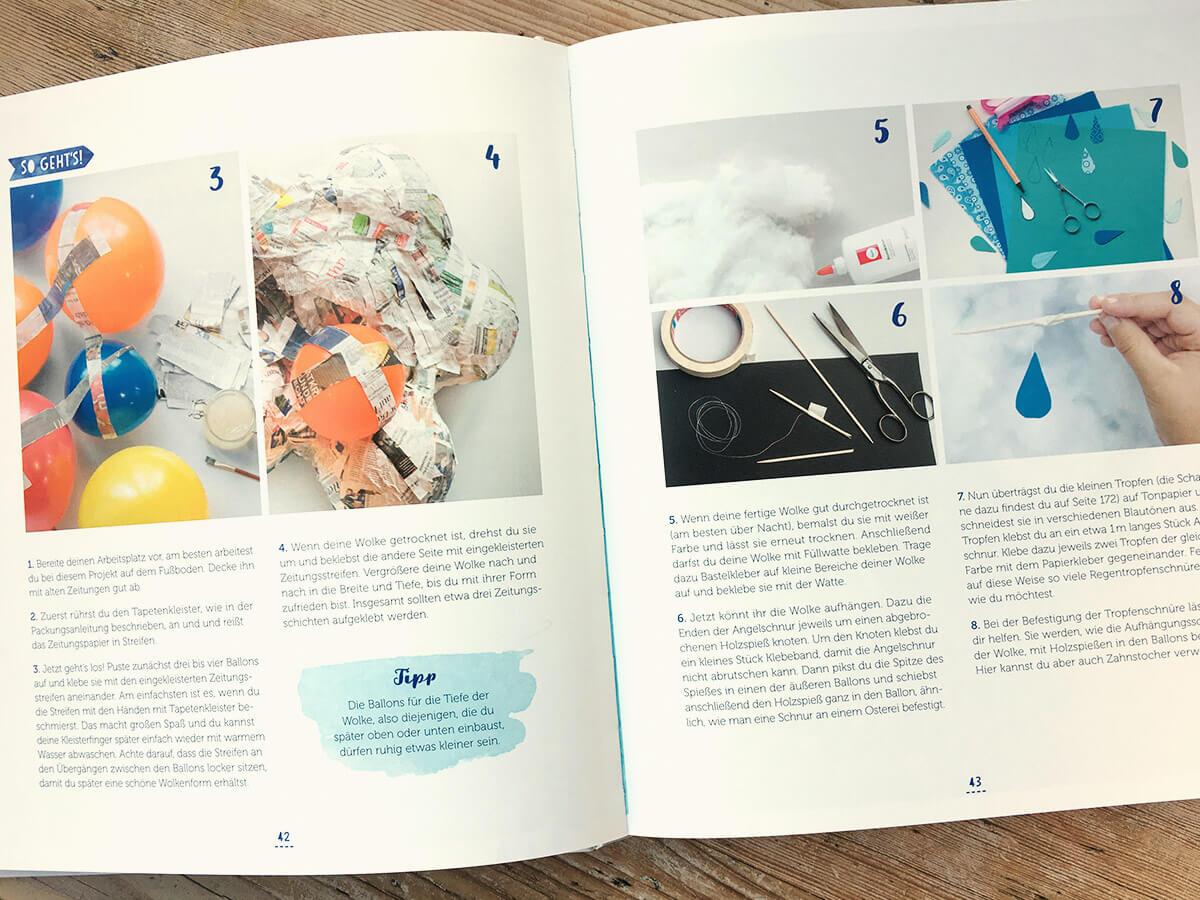 Das Regentage Kreativbuch - Blick in das Bastelbuch