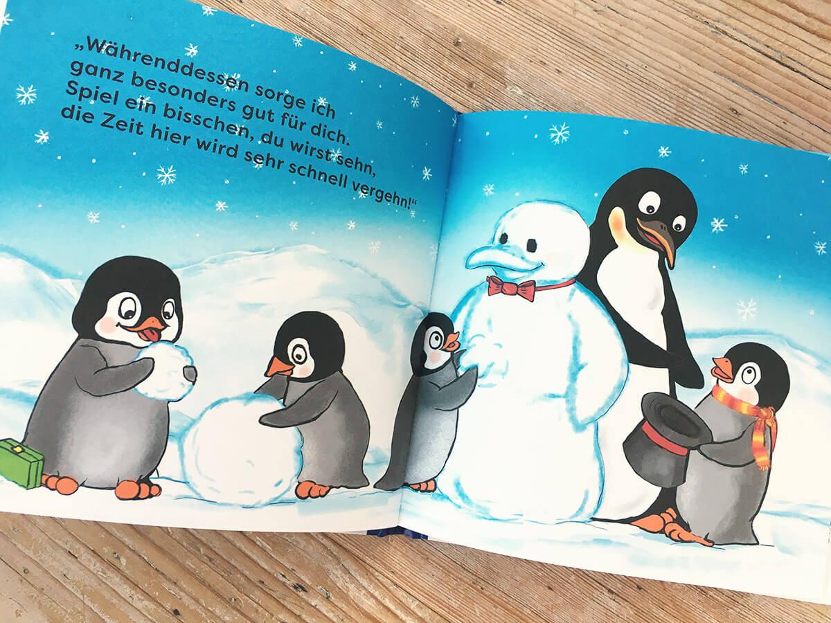Flim Pinguin im Kindergarten Illustrationen