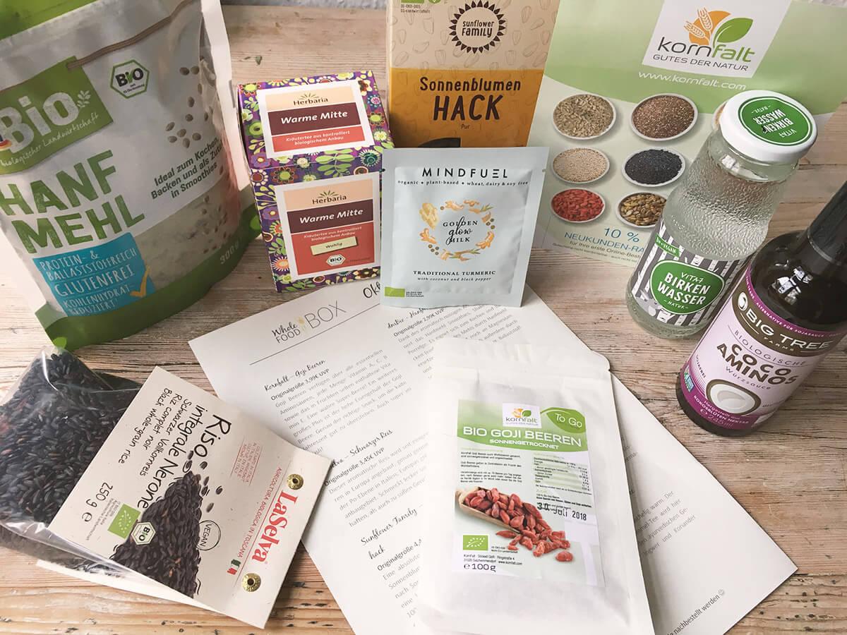 Wholefood Vegan Box Inhalt