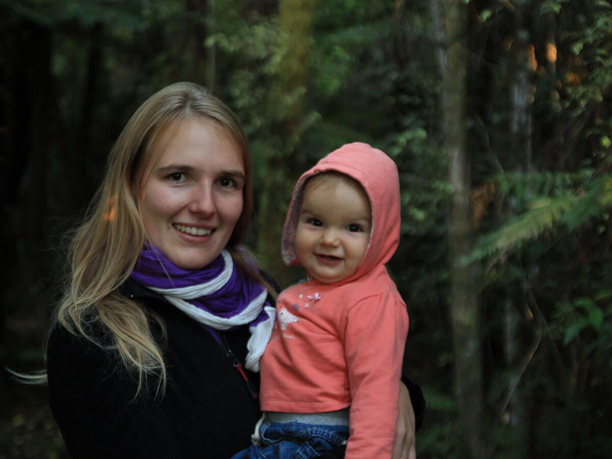 Julia mit Baby