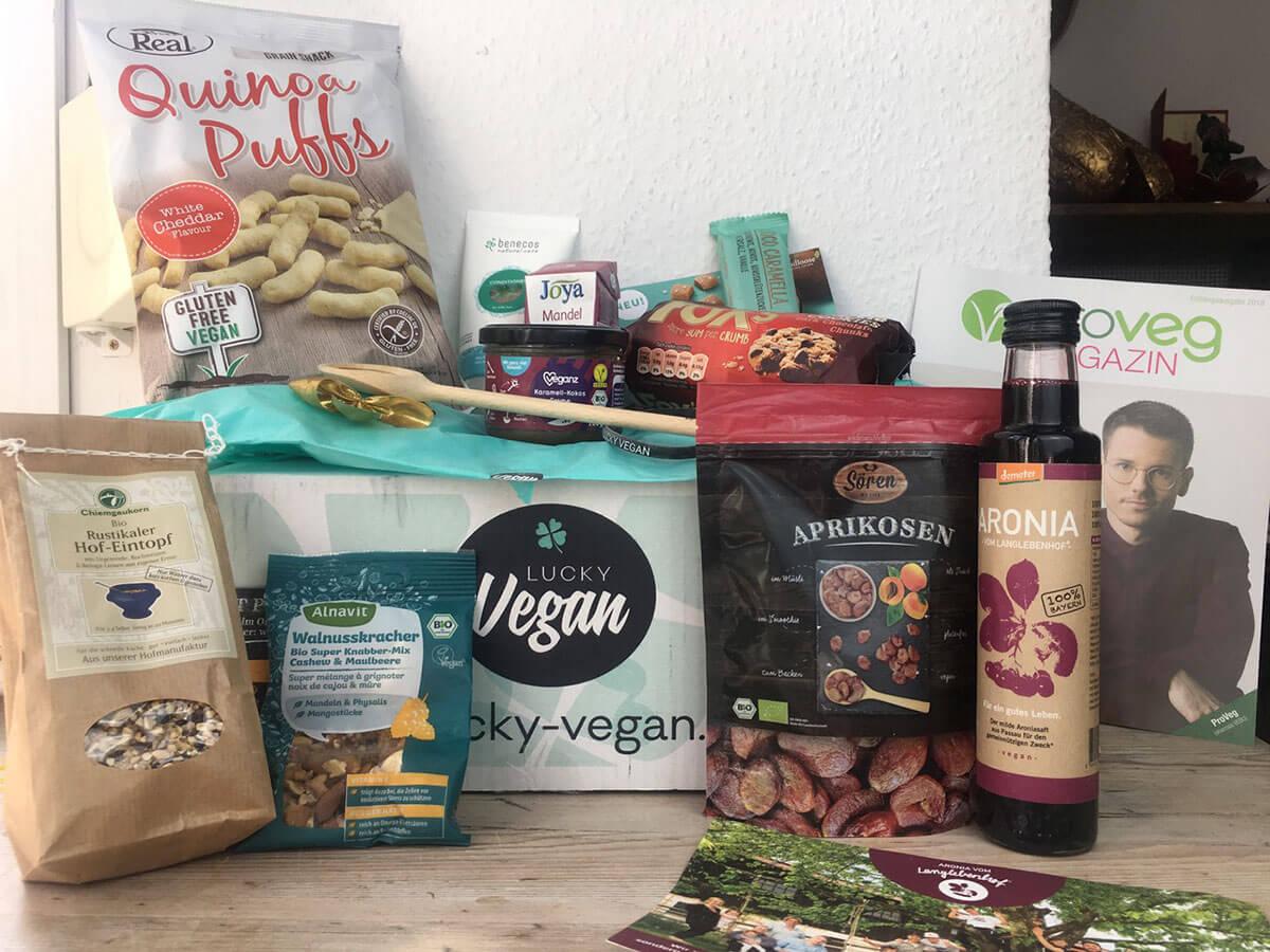 Lucky vegan Box ausgepackt