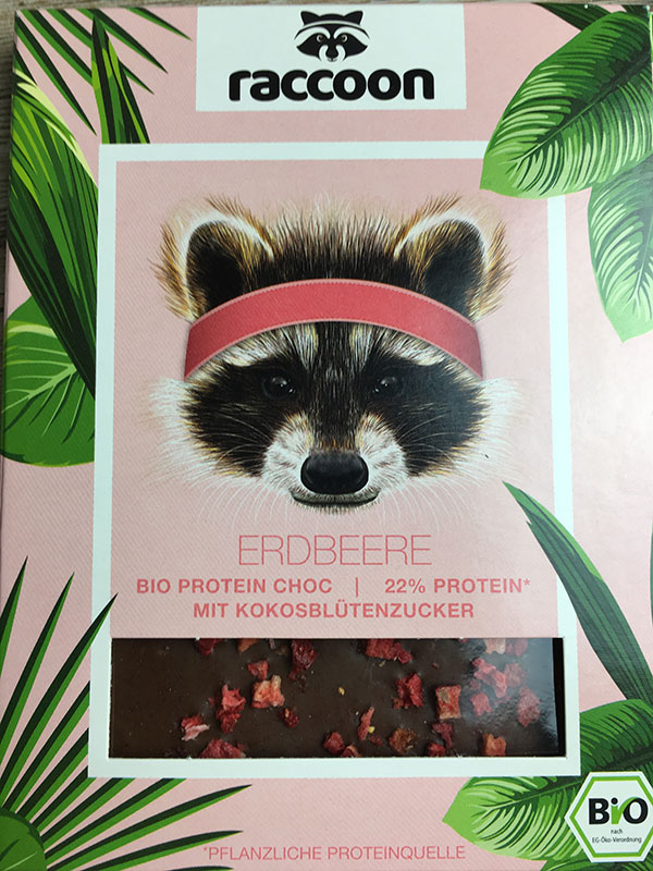 Raccoon Plakat Messestand