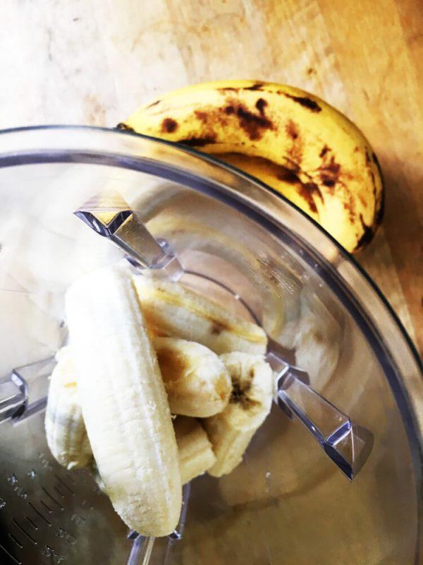 Bananen werden gemixt