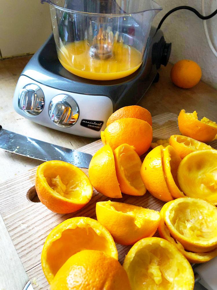 Orangesaft in der Ankarsum gepresst